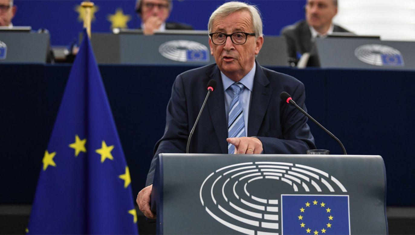 Kadencja szefa KE Jean-Claude'a Junckera wygasa w październiku (fot. PAP/EPA/PATRICK SEEGER)