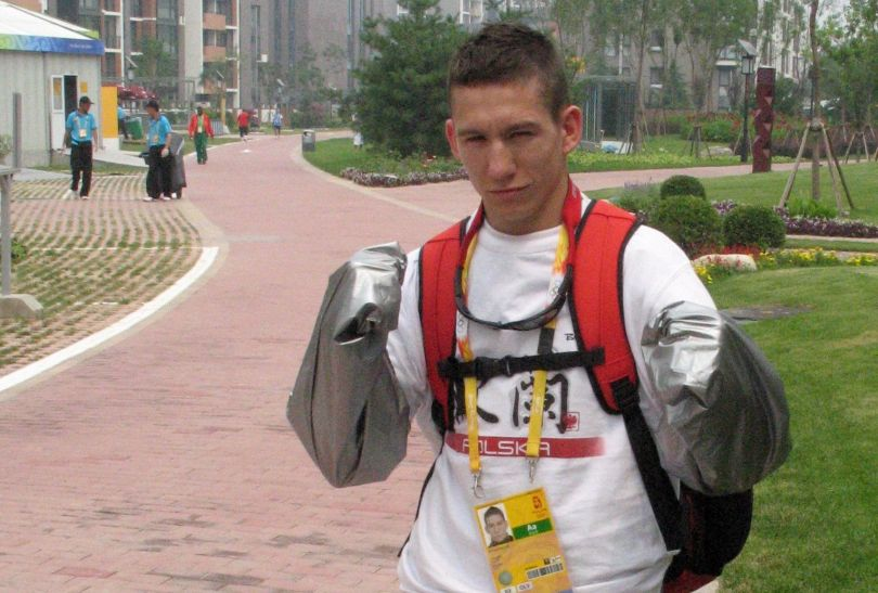Kaczor walczył na IO w Pekinie (fot. PAP/Maciek Malczyk)
