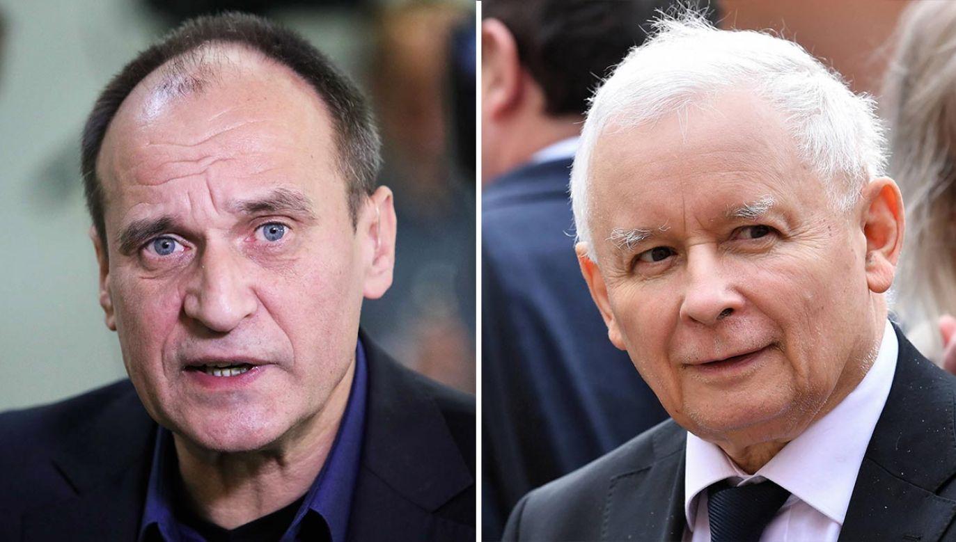 Paweł Kukiz i Jarosław Kaczyński (fot. PAP/Leszek Szymański, Radek Pietruszka)