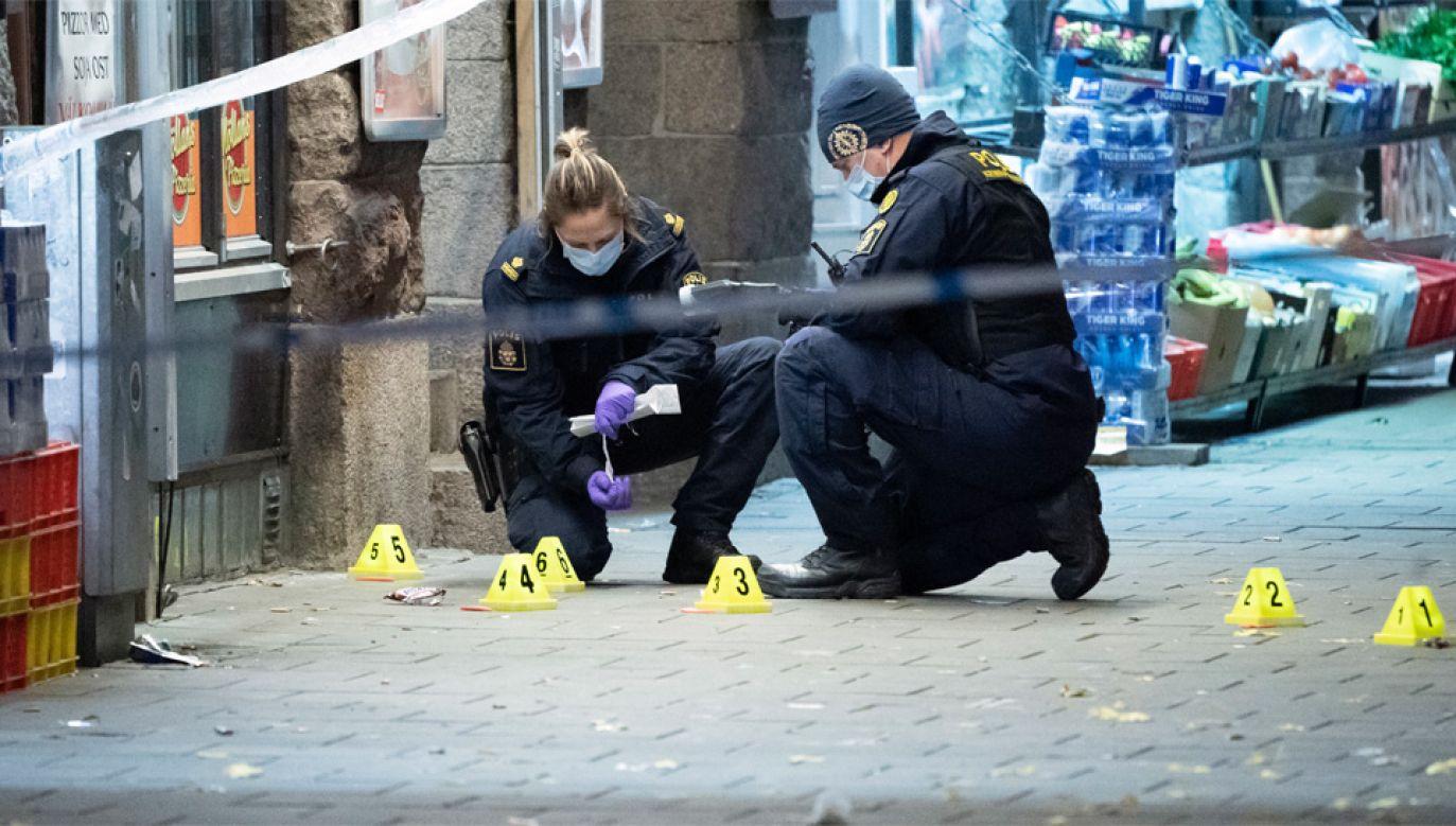 W Malmö toczy się wojna gangów, której efektem są m.in. strzelaniny (fot. PAP/EPA/JOHAN NILSSON)