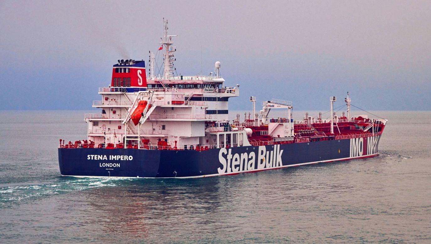 W rękach Irańskiej Gwardii Rewolucyjnej pozostaje  drugi brytyjski tankowiec – Stena Impero (fot.  EPA/TOMMY CHIA / STENA BULK)