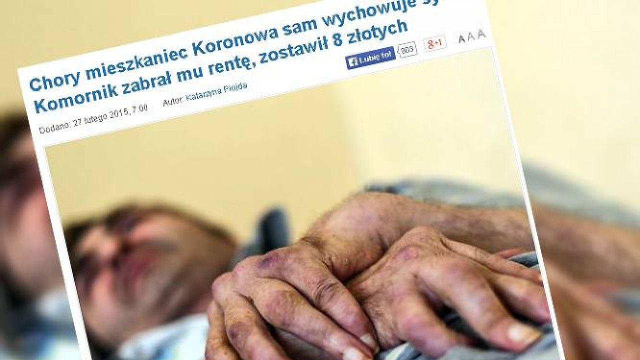 Mężczyzna choruje na reumatoidalne zapalenie stawów (fot. za Gazeta Pomorska/Dariusz Bloch)