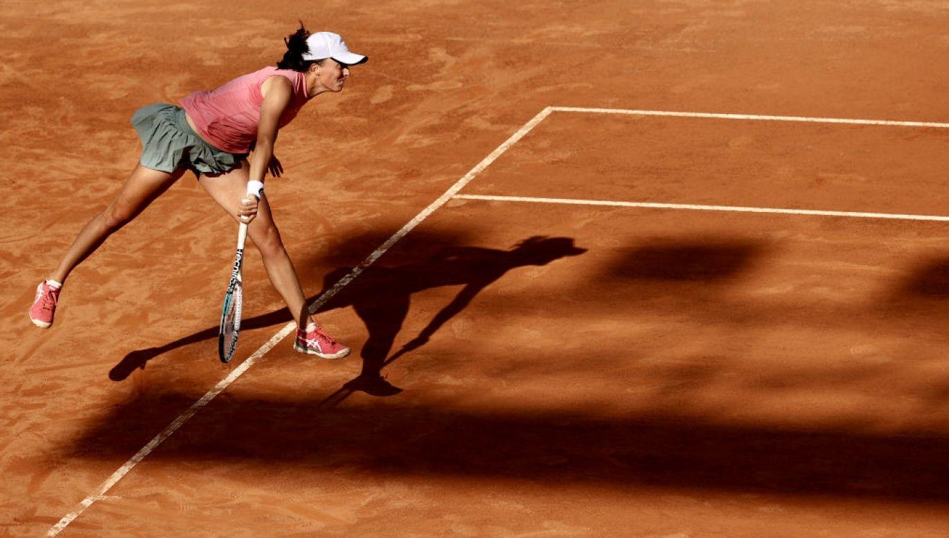 Iga Świątek awansowała do finału w WTA 1000 w Rzymie (fot. Clive Brunskill/Getty Images)