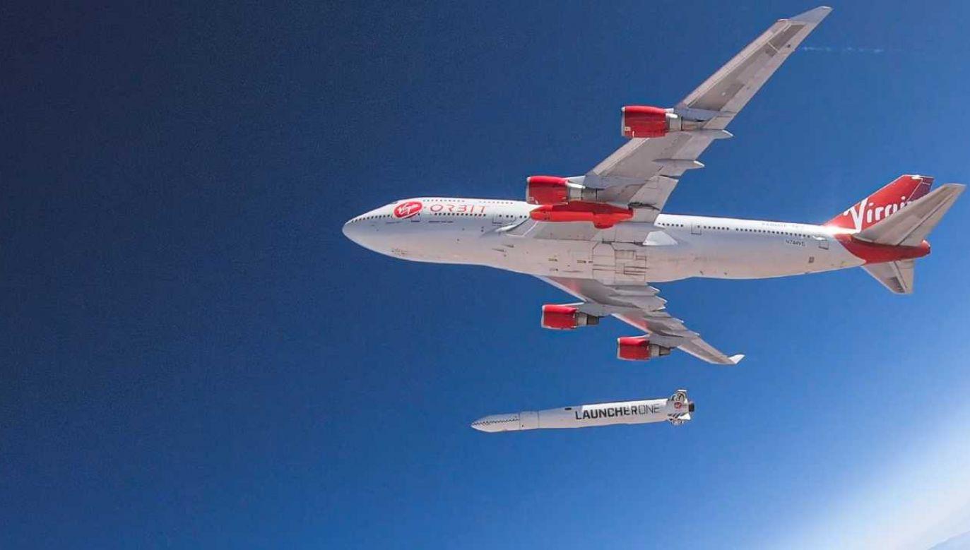 Virgin Orbit chce ponowić próbę (fot. PAP/EPA/VIRGIN ORBIT / HANDOUT)