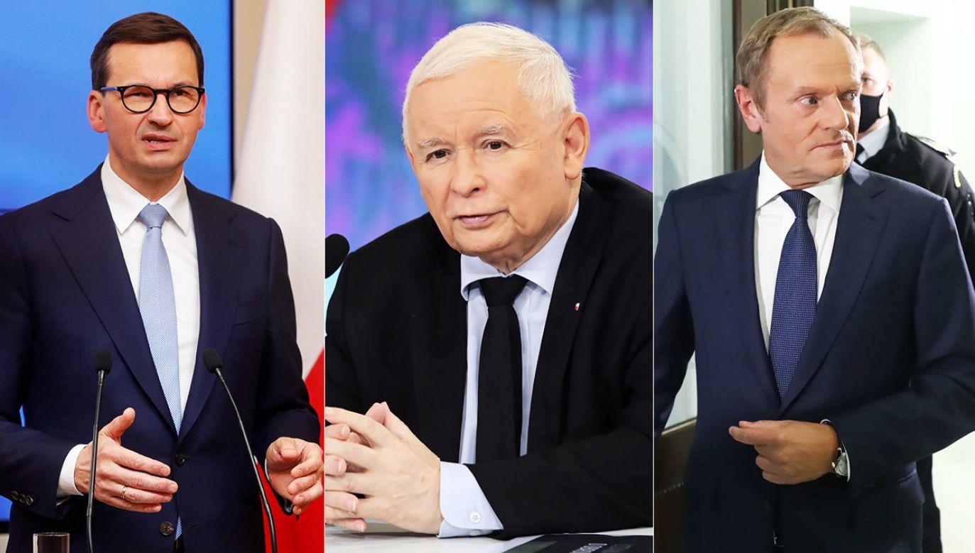 Ranking zaufania do polityków (fot  PAP/EPA, PAP/W.Olkuśnik/T.Gzell)