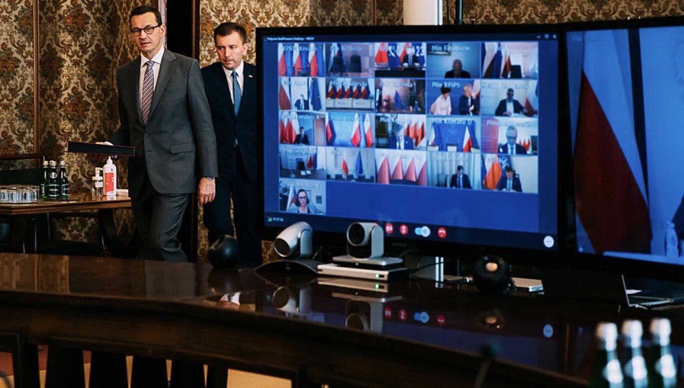 """Nie ma jeszcze żadnych decyzji, """"żeby wcześniejsze wybory były realizowane"""" (fot. Krystian Maj/KPRM)"""