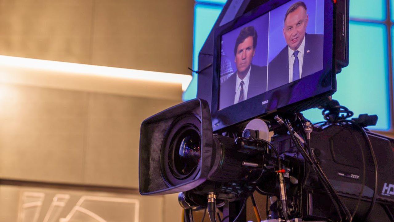 Wywiad nie był emitowany na żywo. (fot. Jakub Szymczuk/KPRP)