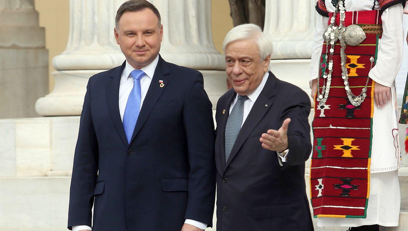 Moskwa uważa nas za strefę wpływów, rosyjskie rakiety wycelowane są w nasze stolice – przypomniał Andrzej Duda (fot. PAP/EPA/ALEXANDROS BELTES)