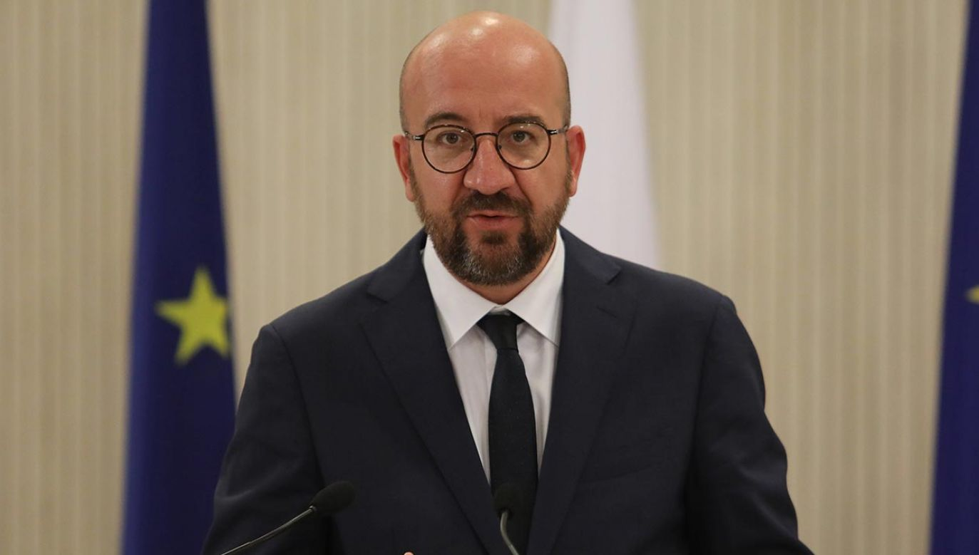 Szef Rady Europejskiej Charles Michel (fot. PAP/EPA/YIANNIS KOURTOGLOU / POOL)