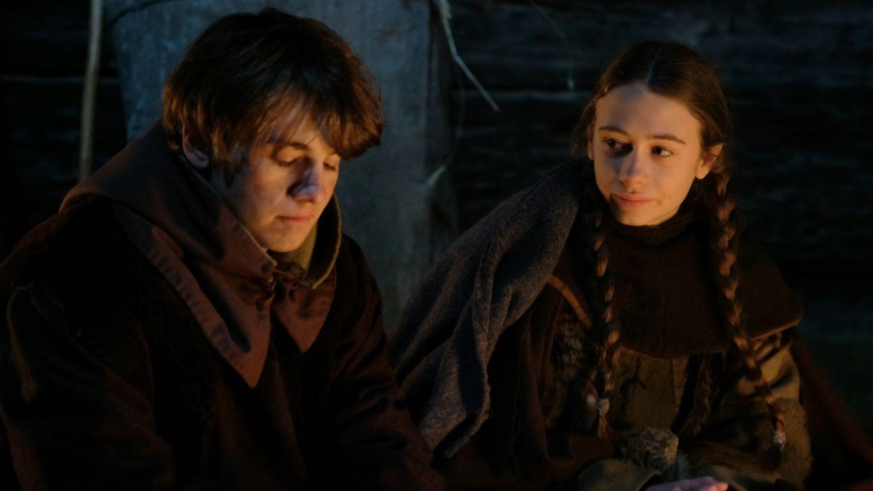 Zakochał się też w Litwince Audre i obiecał jej, że gdy dorosną, poprosi ją o rękę (fot. TVP)