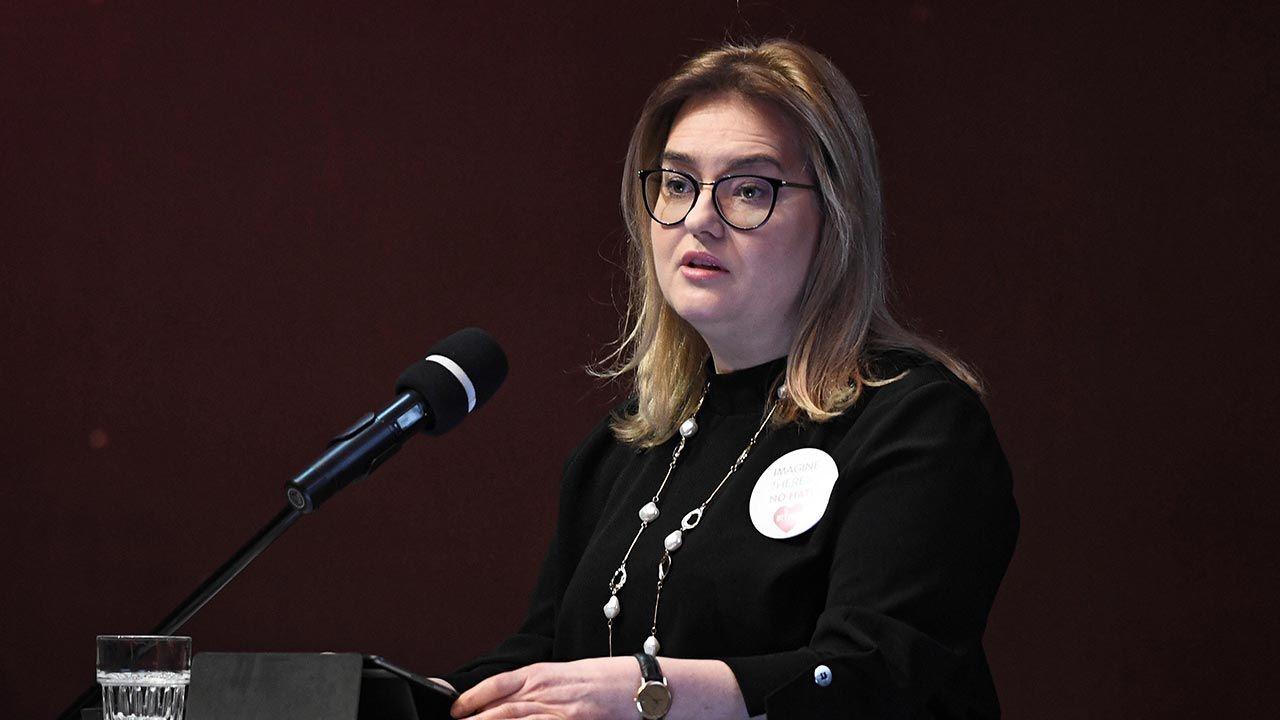 Magdalena Adamowicz jest europosłanką (fot. PAP/Marcin Gadomski)