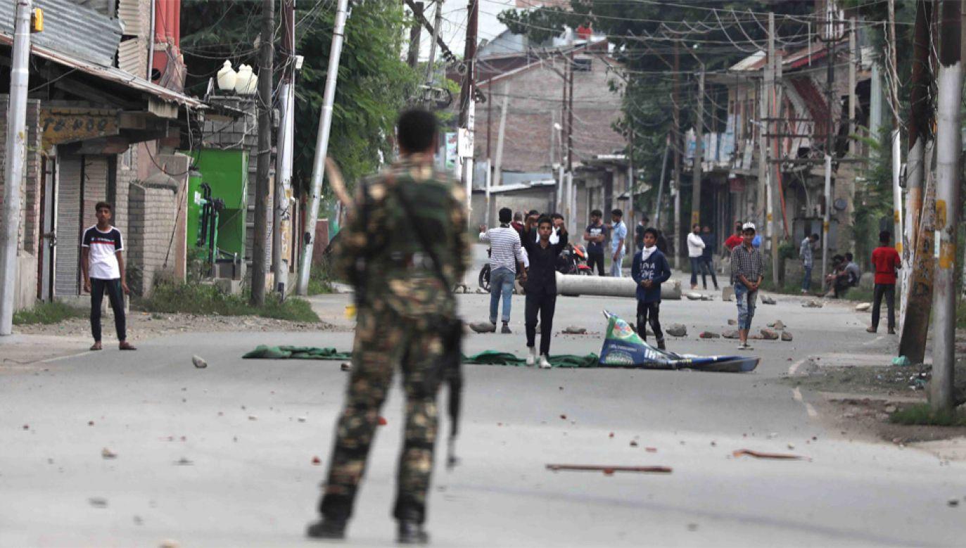 Spór o Kaszmir między Indiami a Pakistanem trwa od 1947 r. (fot. PAP/EPA/FAROOQ KHAN)