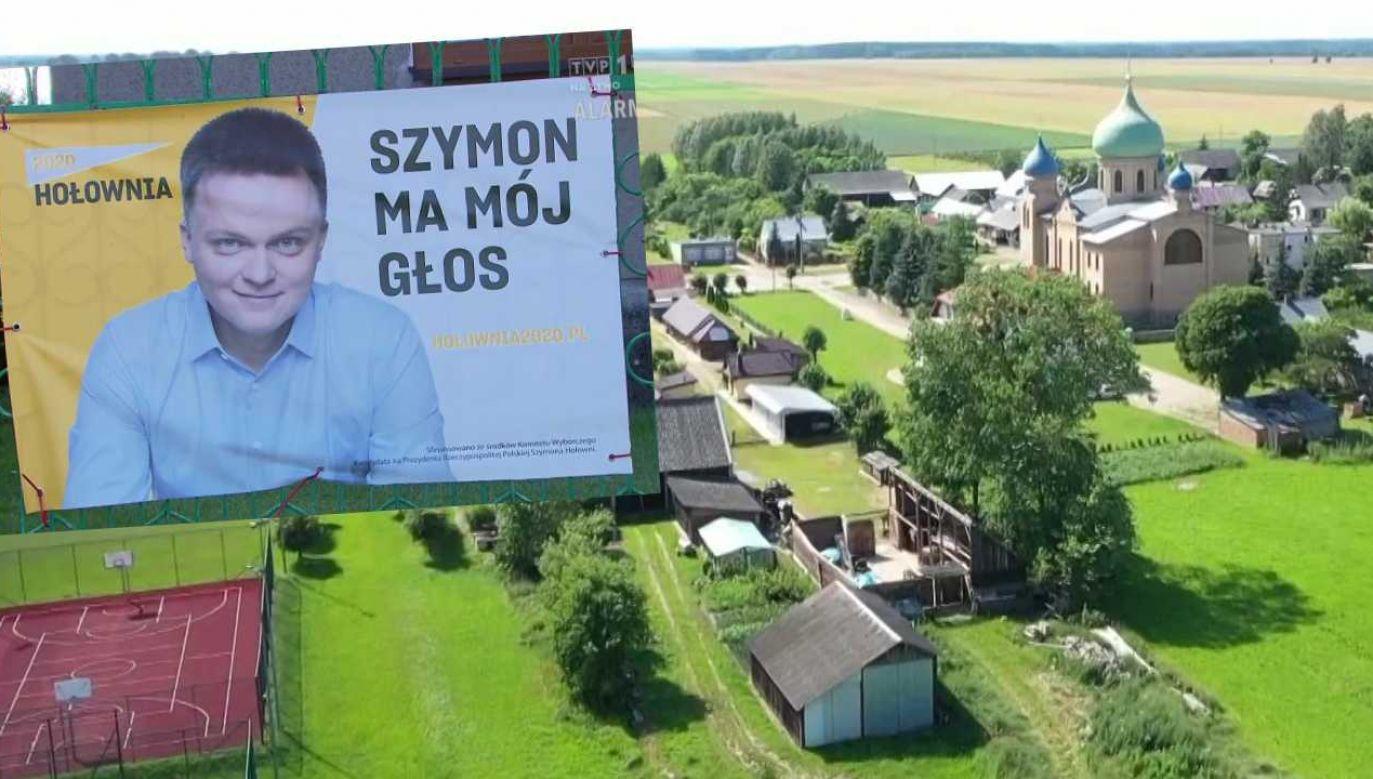 Szymon Hołownia wygrał I turę wyborów w trzech gminach na Podlasiu (fot. TVP1)