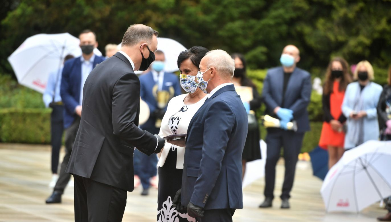Prezydent na gali AgroLiga 2019 (fot. PAP/Andrzej Lange)