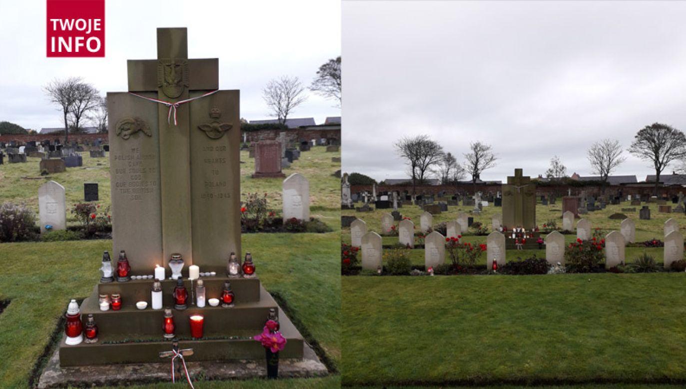 Cmentarz polskich żołnierzy w Blackpool w Wielkiej Brytanii (fot. Marcin Kalbarczyk/Twoje Info)