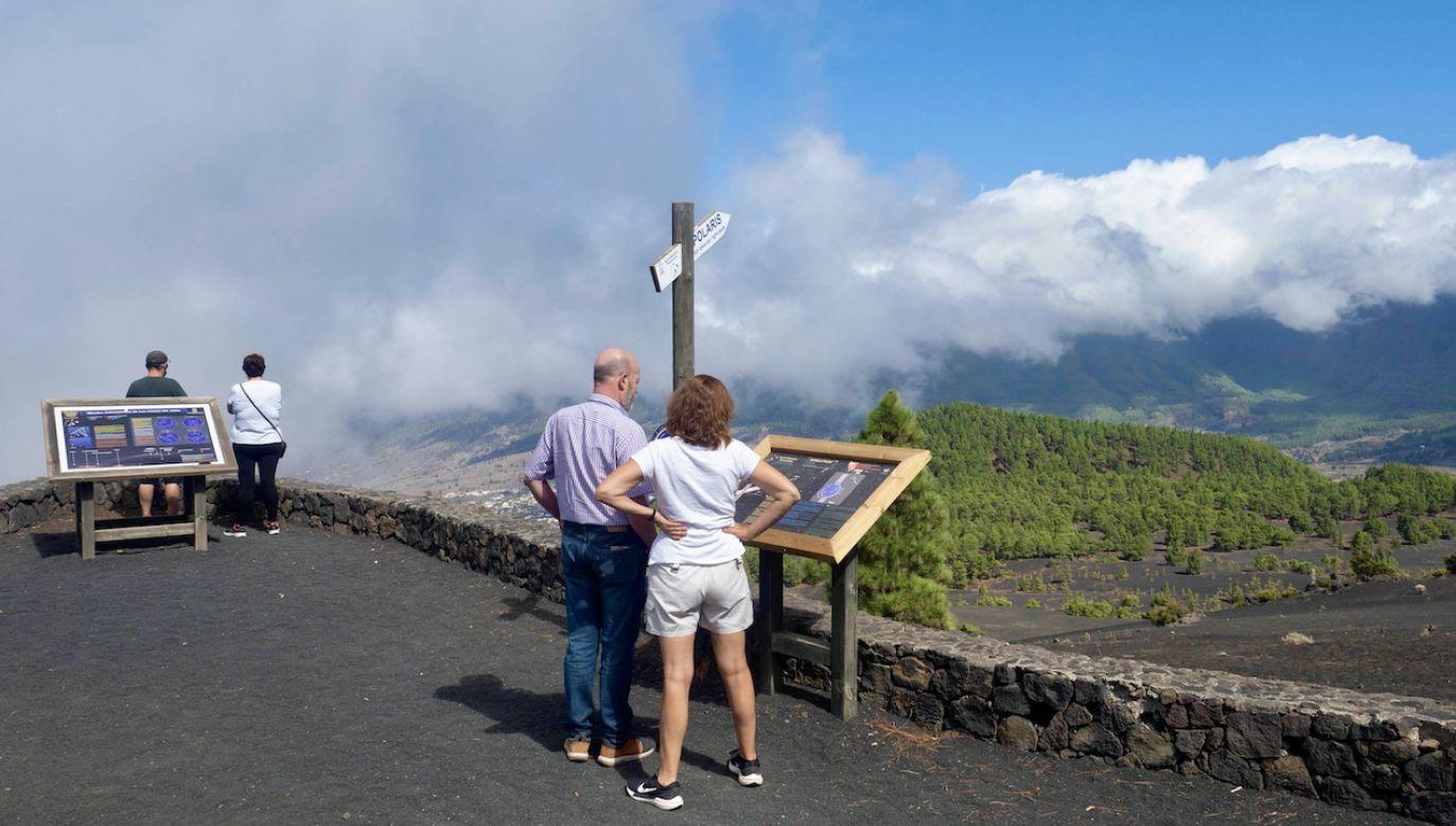 Zagrożenie wybuchem wulkanu na wyspie (fot. Europa Press/Getty Images)