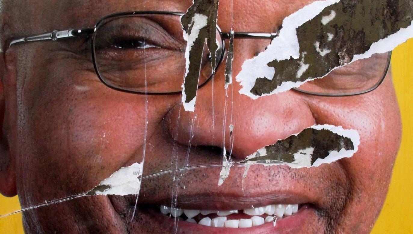 Były prezydent RPA Jacob Zuma skazany (fot. PAP/EPA/KIM LUDBROOK)