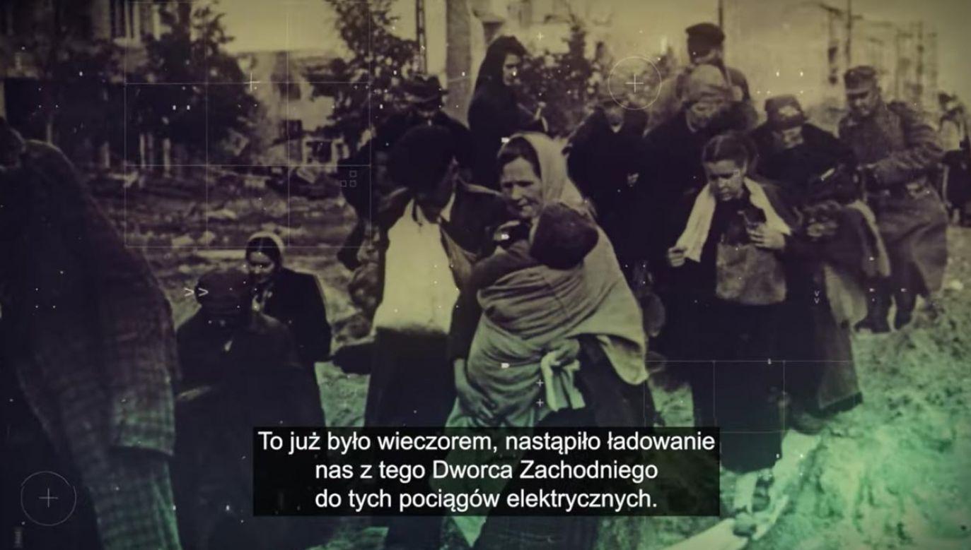Mieszkańców wywożono na roboty przymusowe lub więziono w obozach koncentracyjnych (fot. YouTube/IPNtvPL)