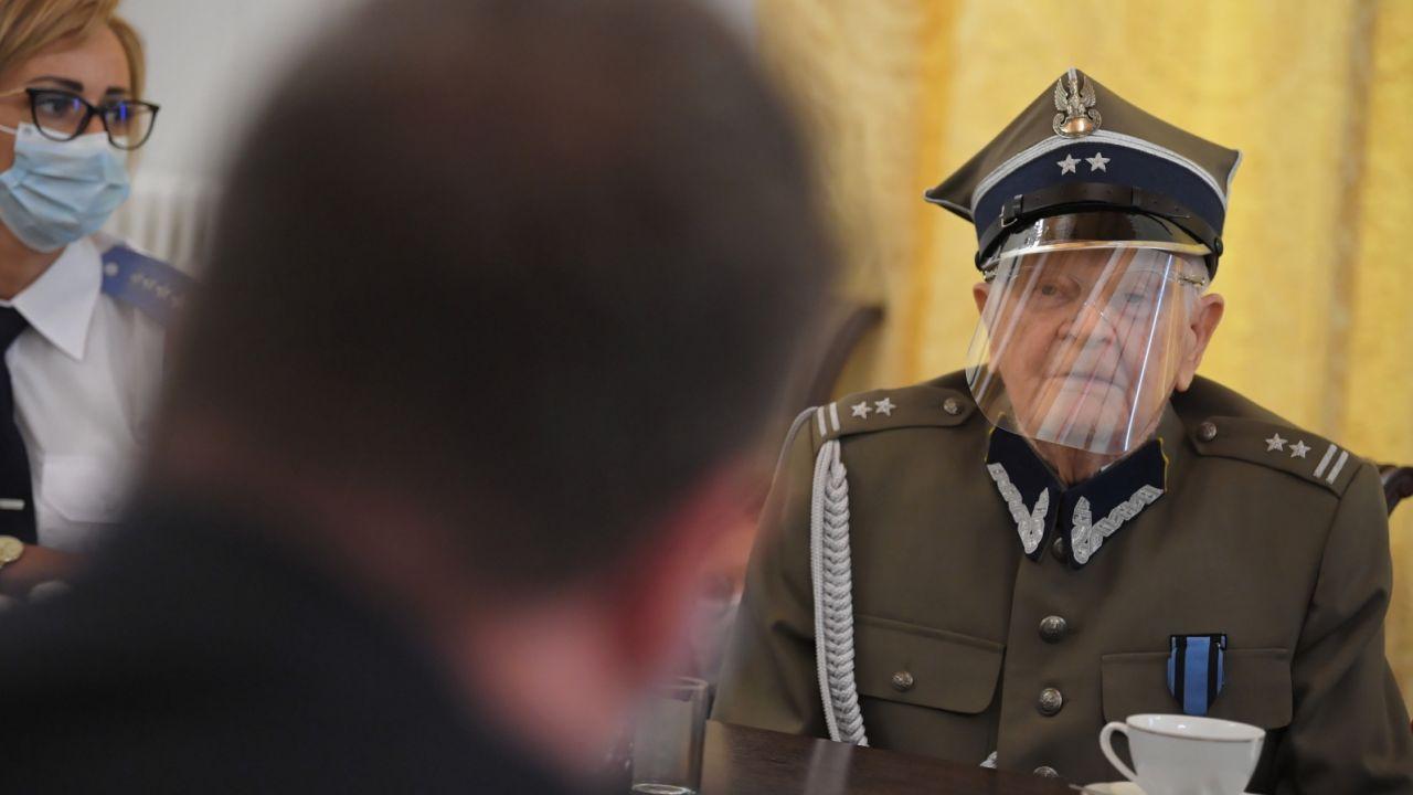 Józef Polak podczas spotkania z wiceministrem Michałem Wójcikiem (fot. PAP/Radek Pietruszka)