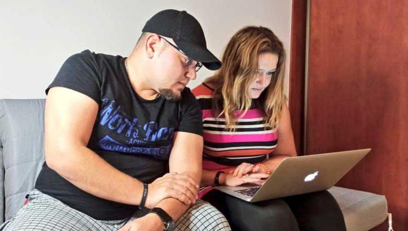 Omar Al-Halabi i Karolina Baca-Pogorzelska byli współautorami książki (fot. FB/ Uwolnić Omara)