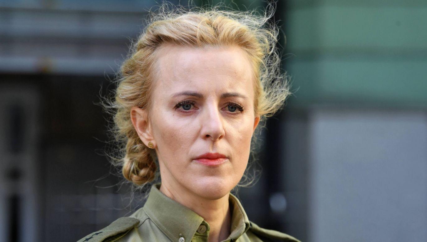 Rzecznik prasowy SG ppor. Anna Michalska (fot. PAP/Radek Pietruszka)