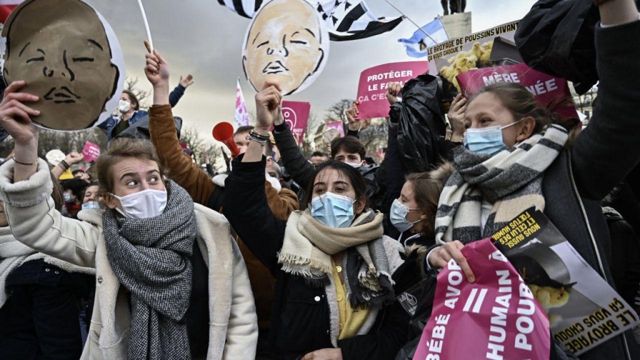 Ulicami Paryża przeszedł Marsz dla Życia (fot. Julien Mattia/Anadolu Agency/Getty Images)