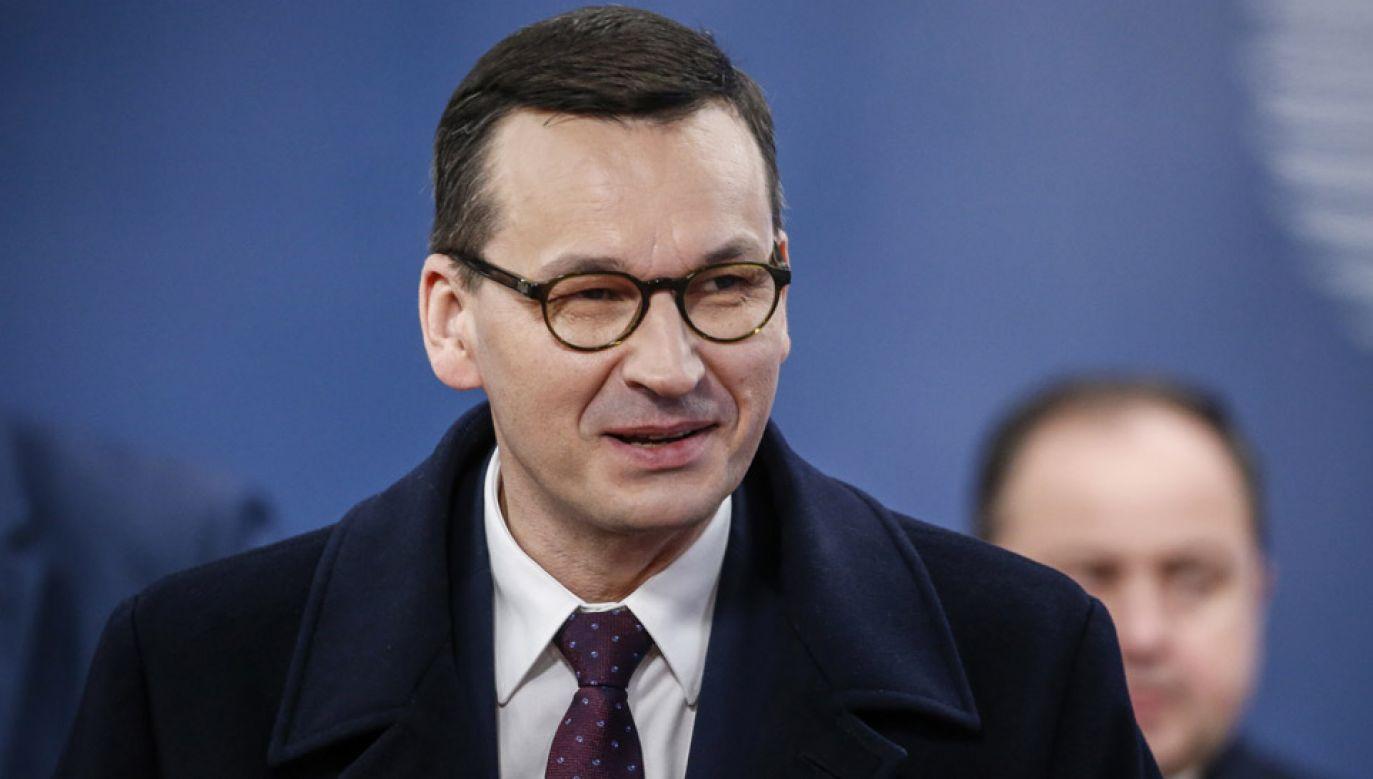 Mateusz Morawiecki reprezentuje Polskę na unijnym szczycie w Brukseli (fot. PAP/EPA/JULIEN WARNAND)