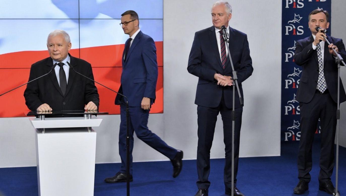Prezes PiS miałby wejść do rządu jako wicepremier (fot. PAP/Radek Pietruszka)