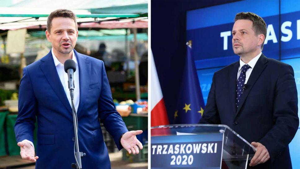 Rafał Trzaskowski nie prowadzi kampanii wyborczej (fot. PAP/Jakub Kaczmarczyk; Rafał Guz)