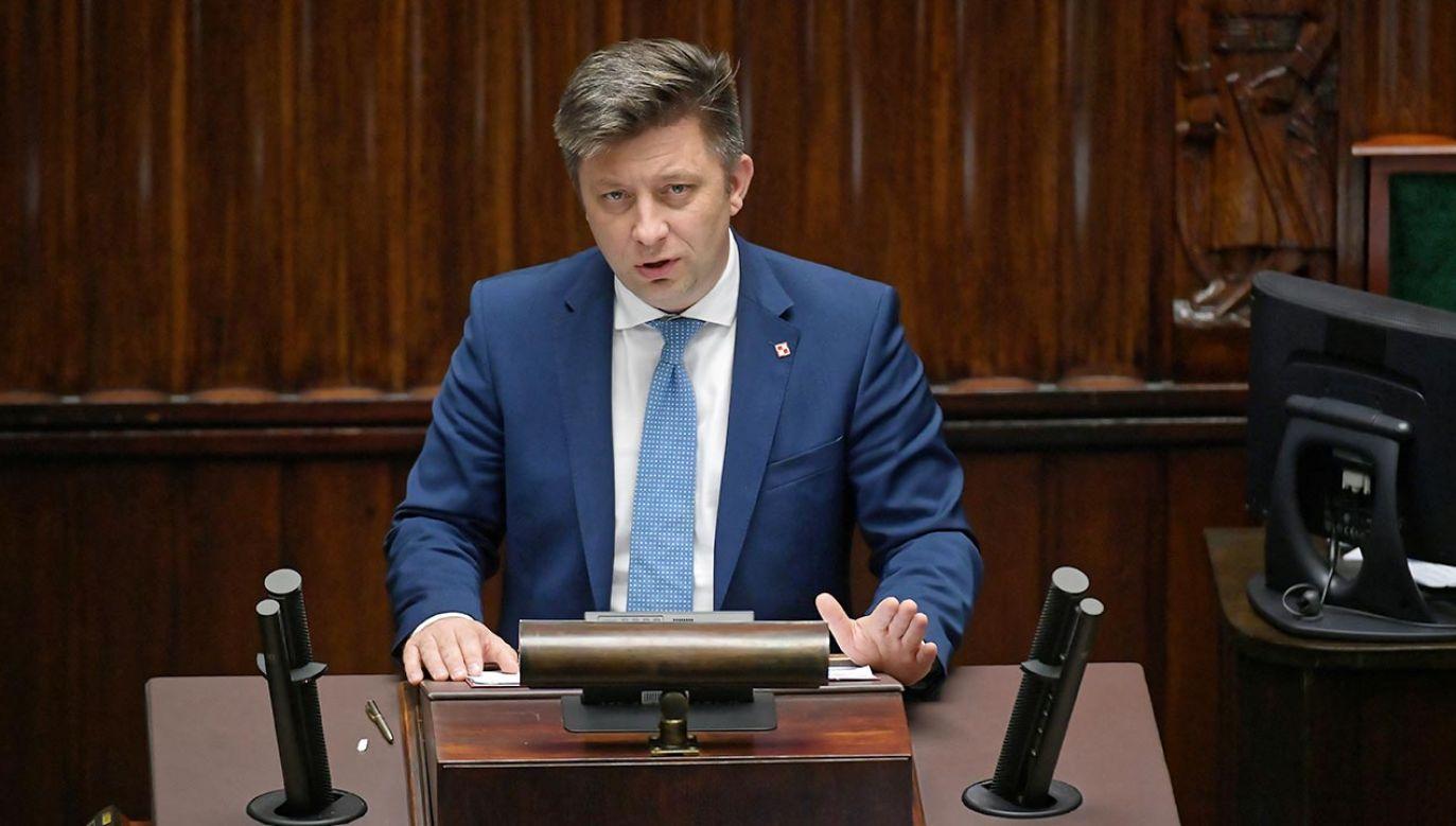 Szef KPRM o liście ambasadorów (fot. PAP/Marcin Obara)