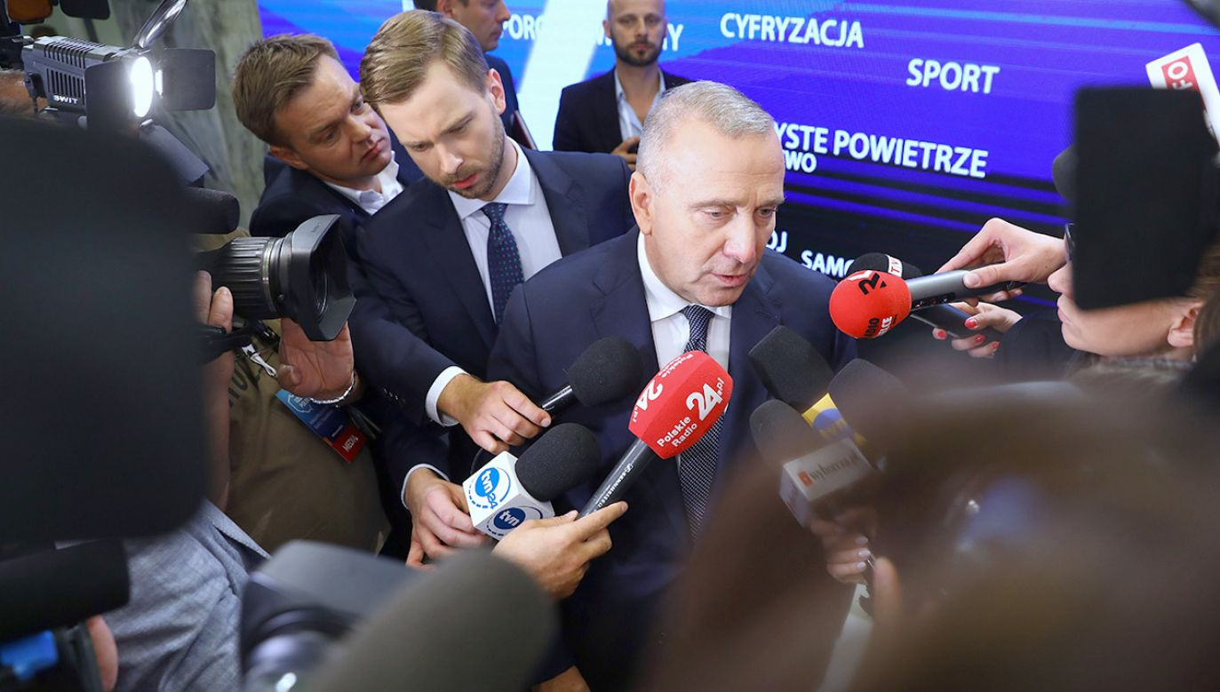 Przewodniczący PO Grzegorz Schetyna (fot.PAP/Rafał Guz)