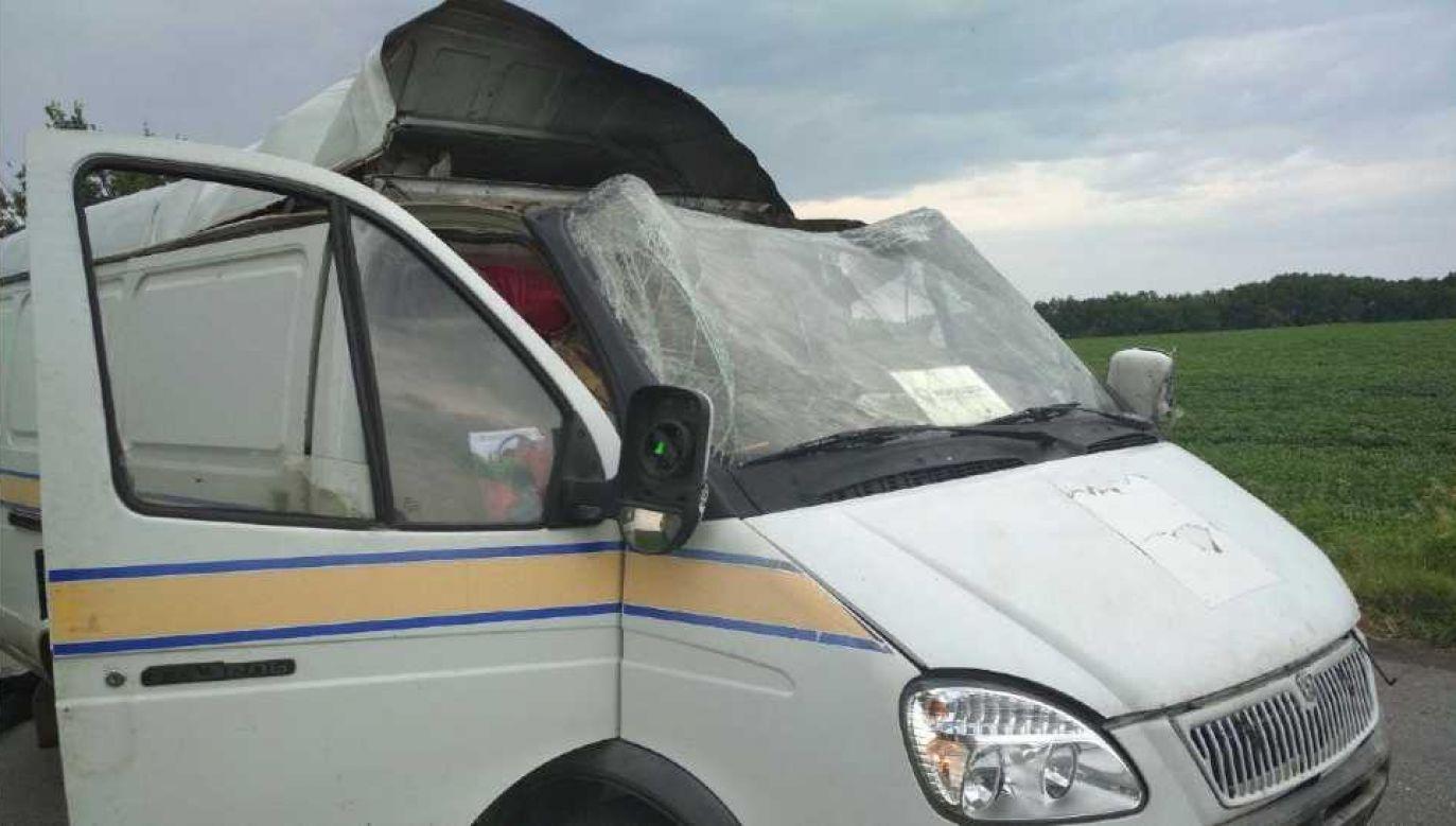 Dwaj inkasenci zostali ranni i trafili do szpitala (fot. Ukraińska policja)