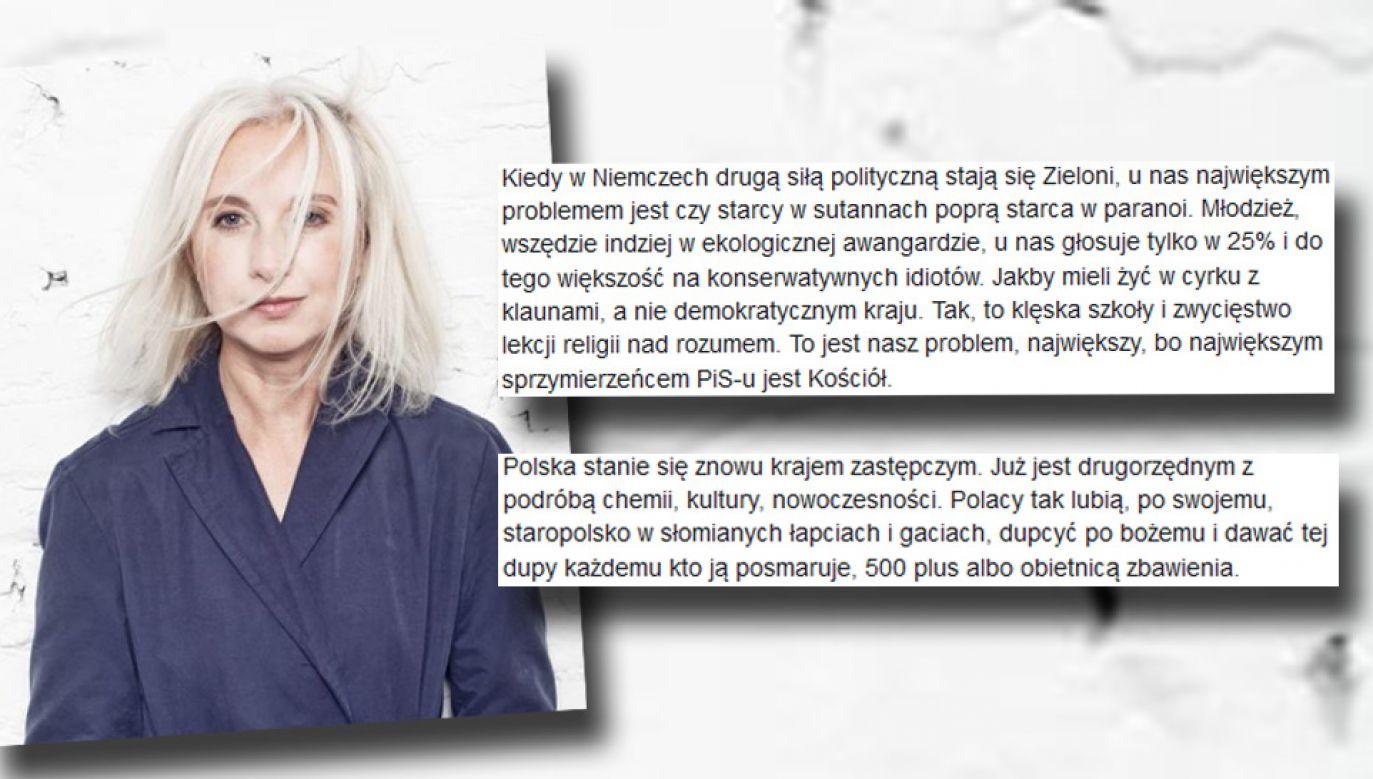 Manuela Gretkowska obraziła wiele grup społecznych (fot. FB/Manuela Gretkowska)