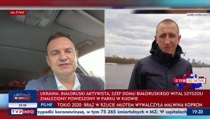 Białoruski opozycjonista Aleś Zarembiuk, stwierdził, że Szyszou został zamordowany (fot. TVP Info)