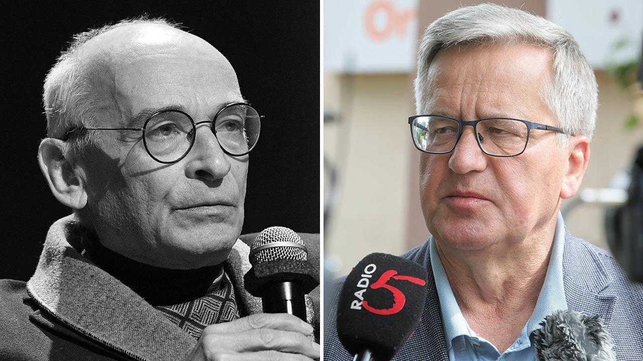 Jan Lityński gościł Bronisława Komorowskiego w swoim domu (fot. PAP/Radek Pietruszka, Artur Reszko