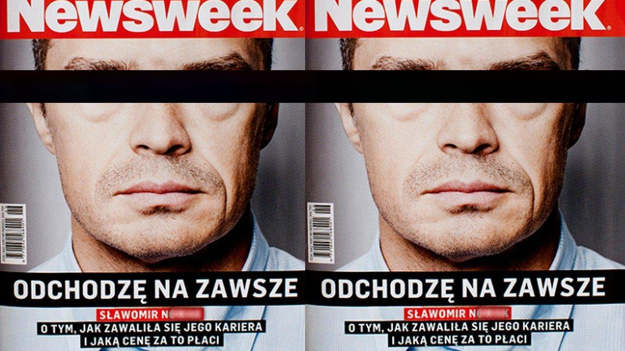 """""""Odchodzę na zawsze"""" obiecywał Sławomir N. w 2014 r. na okładce Newsweeka (fot. media)"""