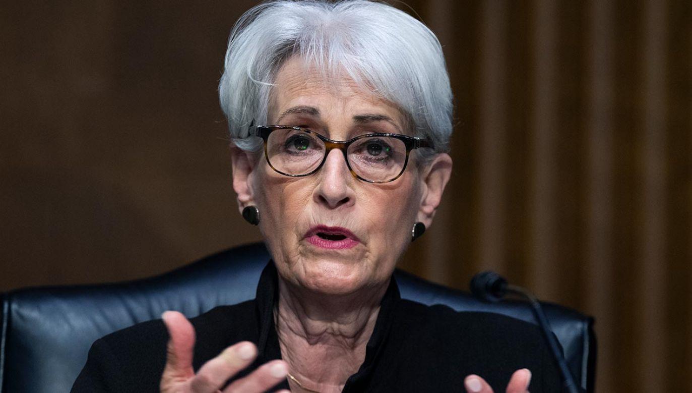 Zastępczyni szefa dyplomacji USA Wendy Sherman  (fot.  Tom Williams/CQ-Roll Call, Inc via Getty Images)