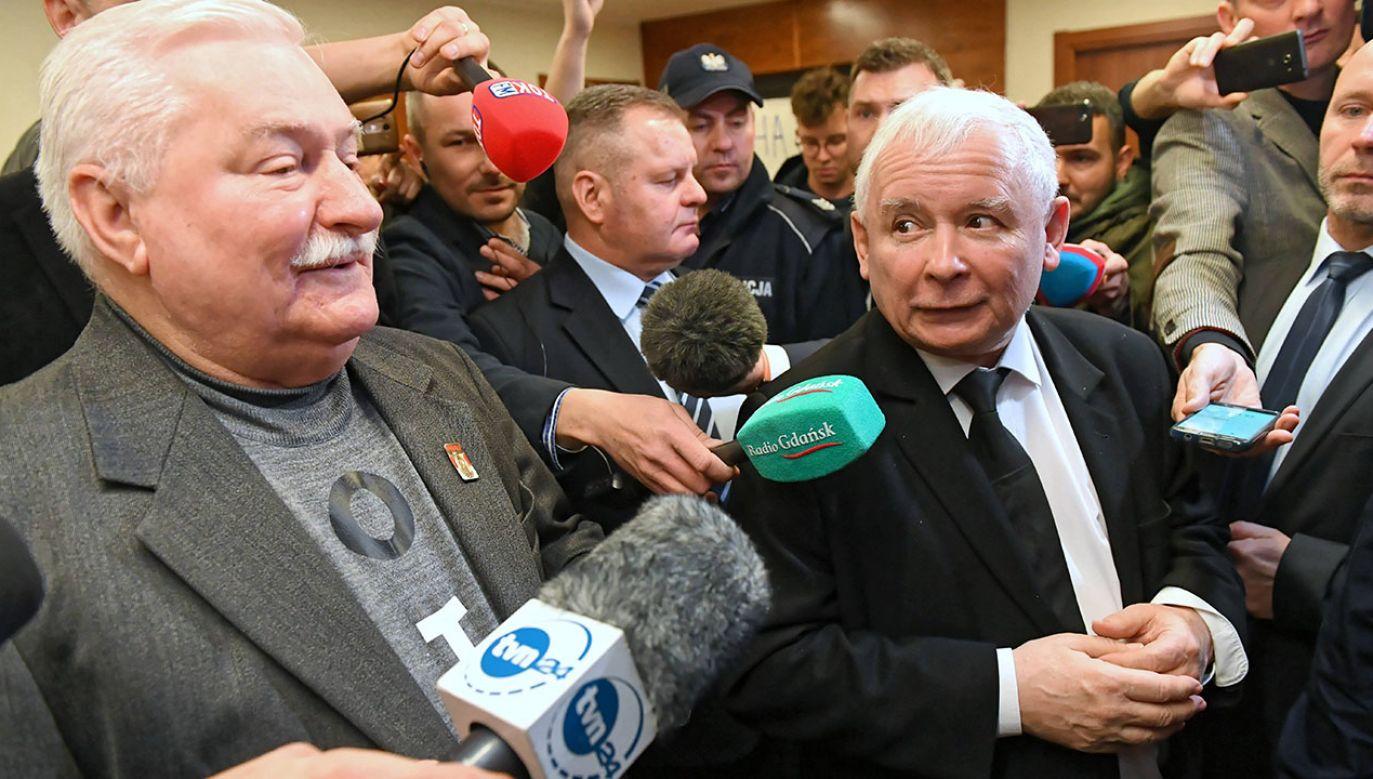 Były prezydent RP Lech Wałęsa i prezes PiS Jarosław Kaczyński (fot. arch.PAP/Adam Warżawa)