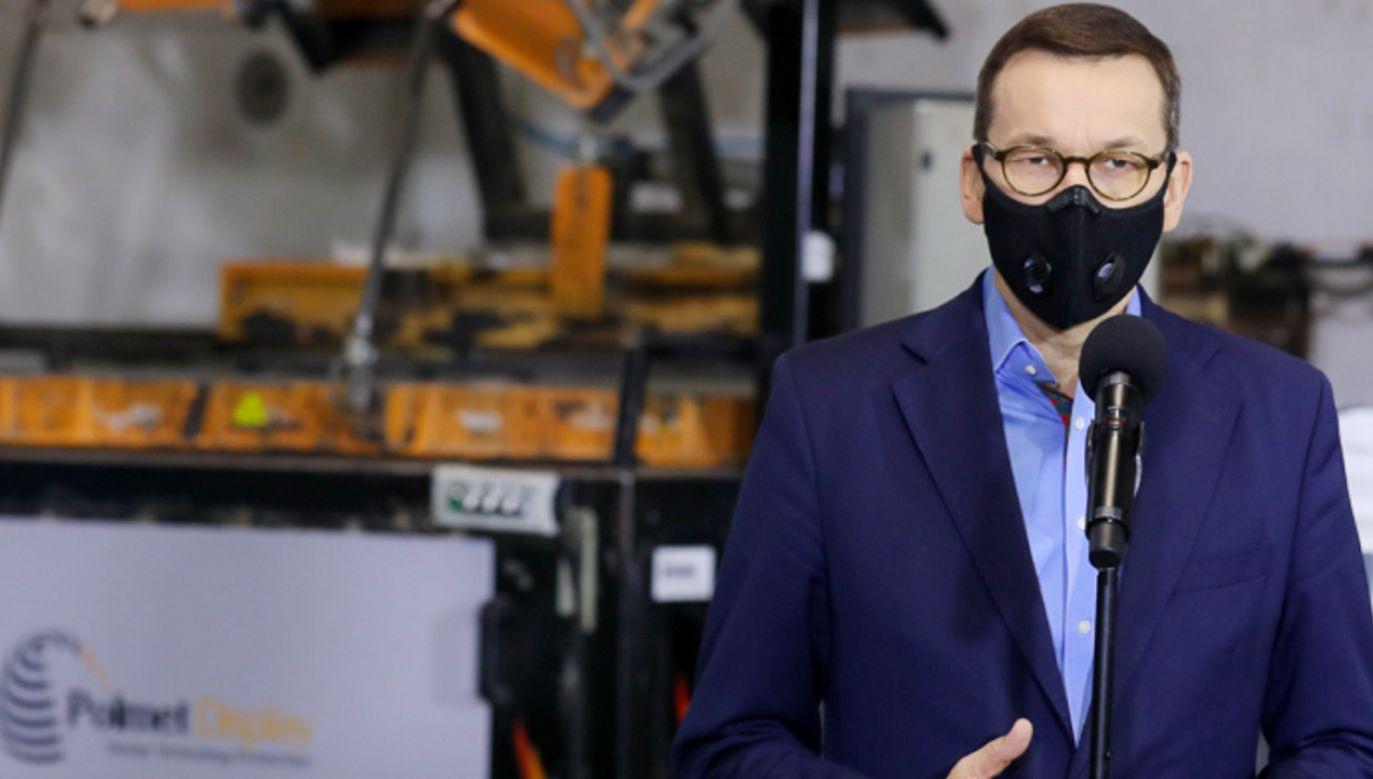 Premier Mateusz Morawiecki obiecał uruchomienie kolejnych środków (fot. Adam Guz/KPRM)