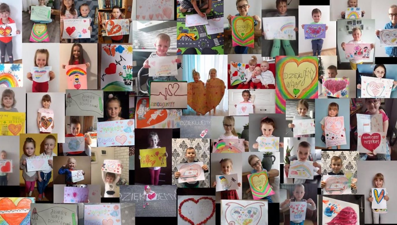 Dzieci dziękują za walkę z koronawirusem medykom (fot. YouTube/victory-studio.pl)