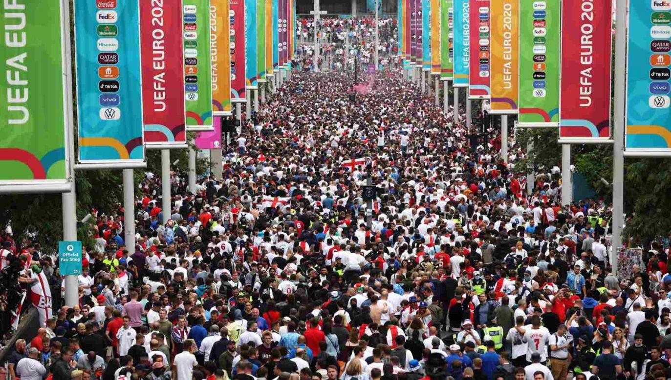 Angielscy fani znów dali o sobie znać (fot. Getty Images)