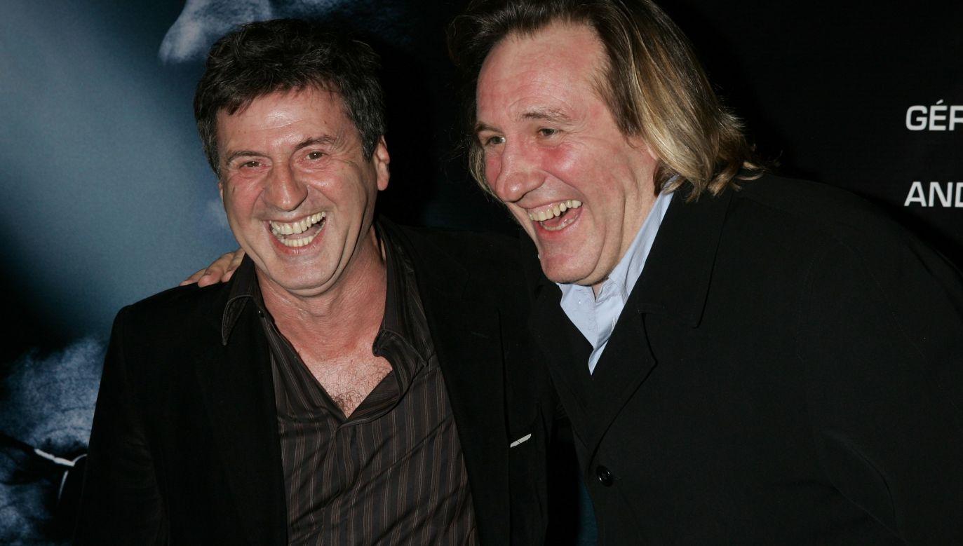 Gerard Depardieu i Daniel Auteuil podczas paryskiej premiery dramatu kryminalnego