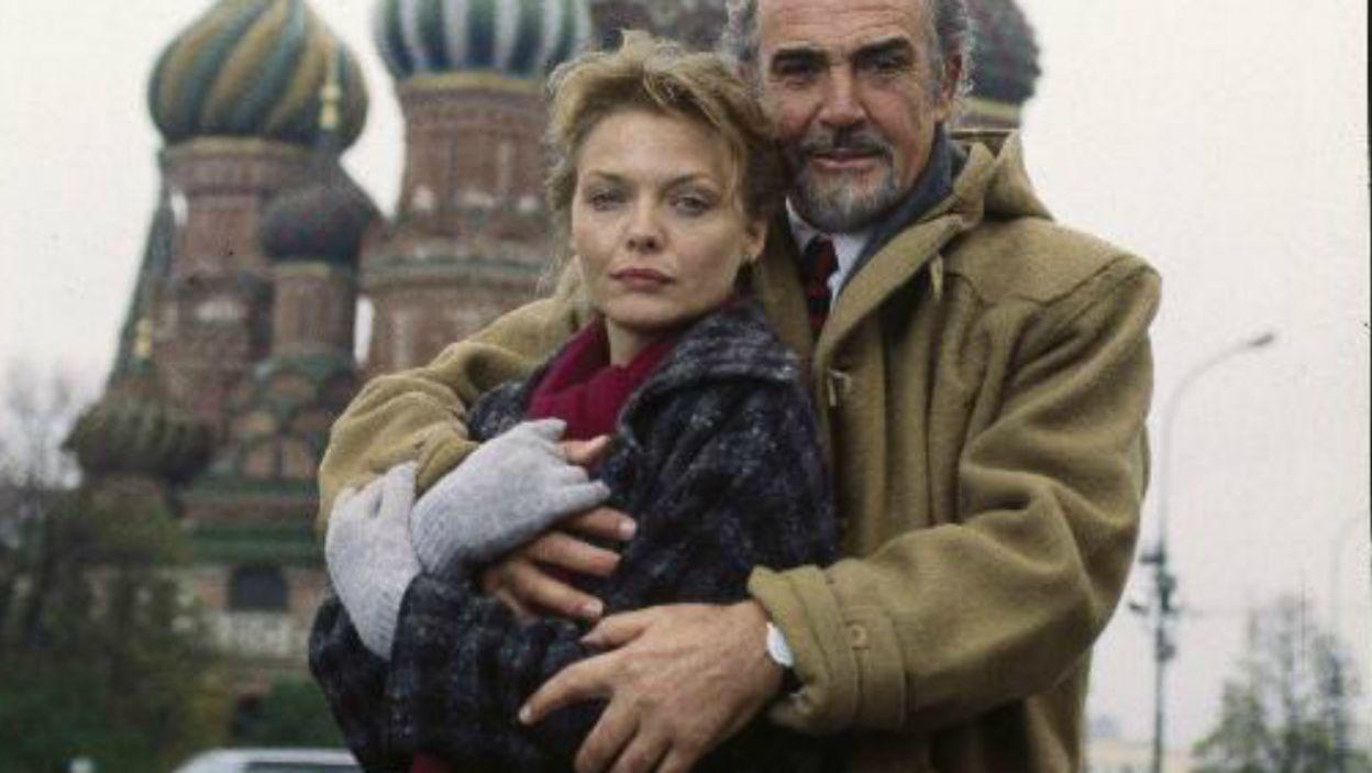 """Na planie """"Wydziału Rosja"""" aktor spotkał się z piękną Michelle Pfeiffer (fot. TVP)"""