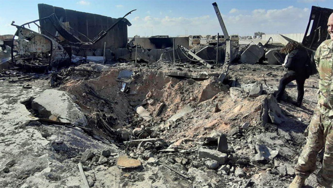 Rakiety wystrzelono z dzielnicy Zafaranijah pod Bagdadem (fot. PAP/EPA/STR)