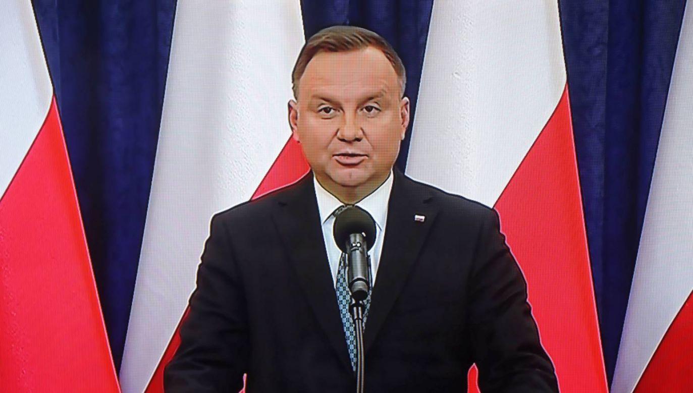 Prezydent Andrzej Duda zabrał głos w sprawie terminu wyborów (fot. PAP/Wojciech Olkuśnik)