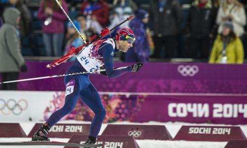 Ole Einar Bjørndalen przekroczył czterdziestkę i metę w Soczi (2014 r.) z ósmym złotem olimpijskim w karierze. Fot. Paul Phillips/Icon SMI/Corbis/Icon Sportswire via Getty Images