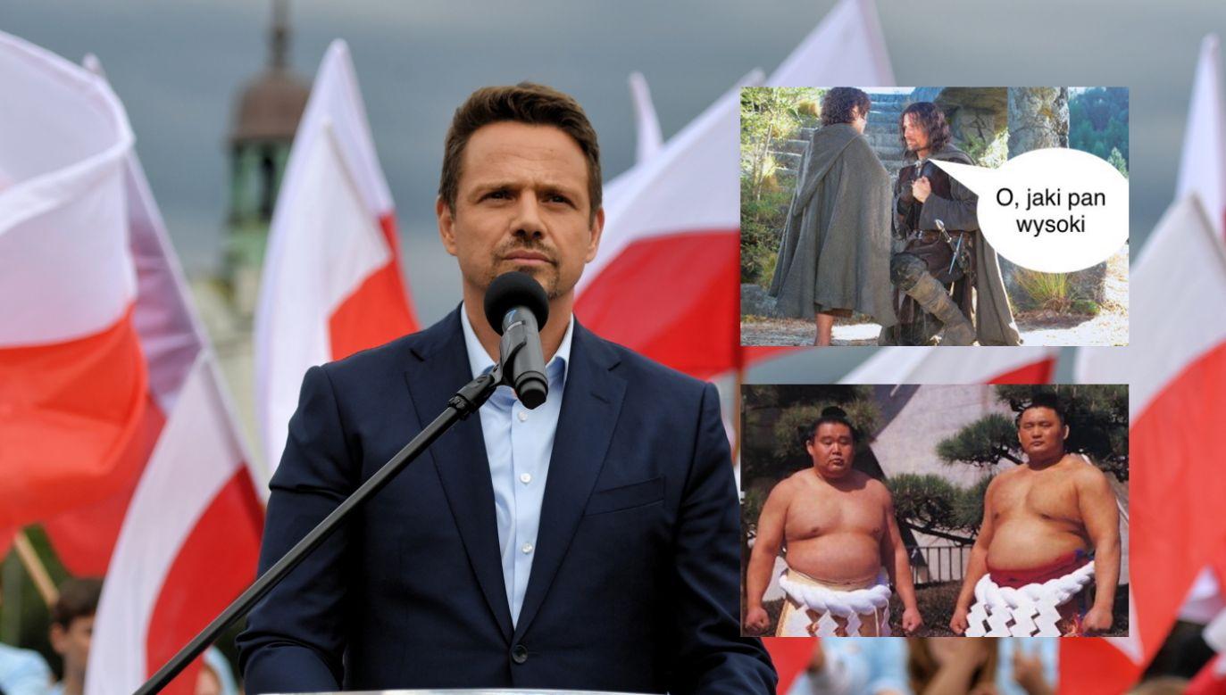 Rafał Trzaskowski (fot. PAP/Marcin Bielecki, Twitter.com/Sławomir Traczyk, Twitter.com/CzlowiekBobr)