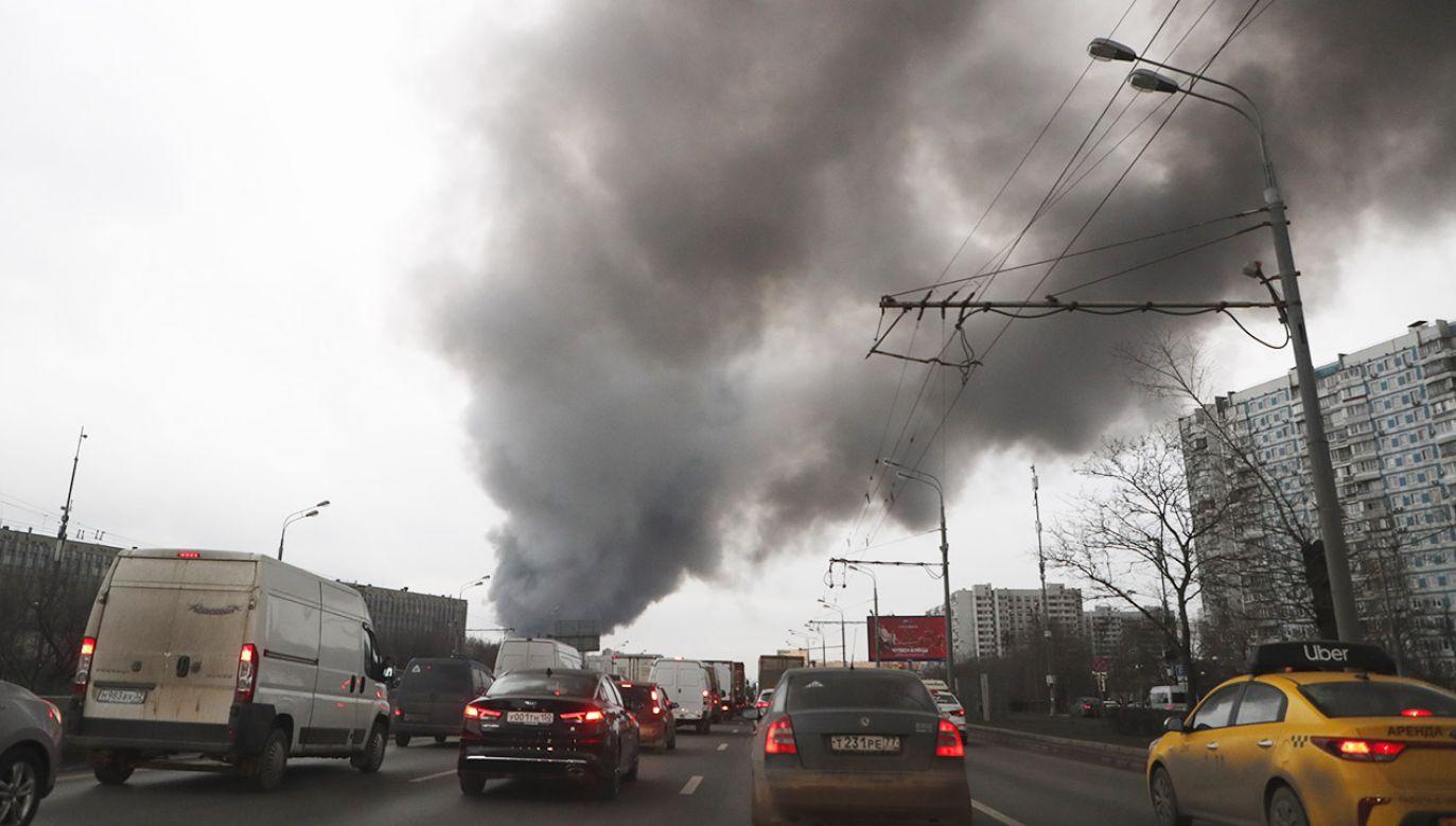 Na razie nie podano przyczyny pożaru (fot. PAP/EPA/MAXIM SHIPENKOV)