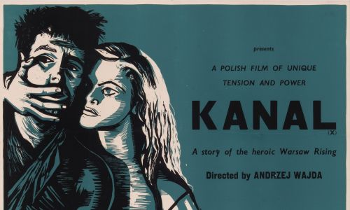 "Plakat autorstwa Petera Strausfelda do filmu ""Kanał"" z 1957 roku. Fot. Movie Poster Image Art/Getty Images"
