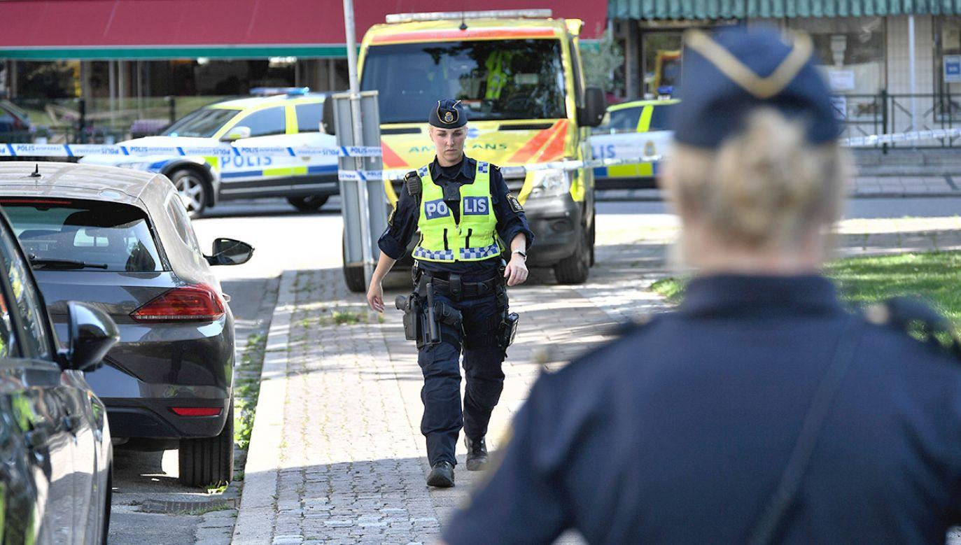 Szwedzka policja jest bezradna wobec rosnącej liczby przestępstw z użyciem broni (fot. Johan NIlsson/TT News Agency/via REUTERS)